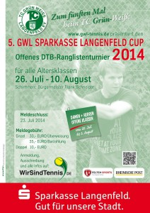 Turnierplakat 2014